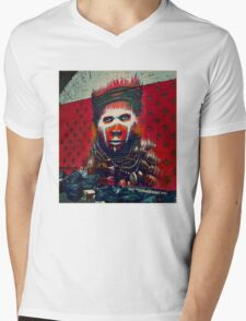 Amazonian Indian- street art Mens V-Neck T-Shirt