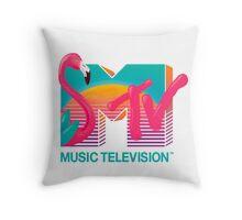 MTV Flamingo Throw Pillow