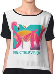 MTV Flamingo Chiffon Top