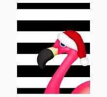 Pink Flamingo Santa Striped Unisex T-Shirt