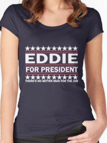 Eddie For Prez - White Women's Fitted Scoop T-Shirt