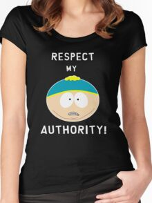 Cartman - Respect my authority Women's Fitted Scoop T-Shirt