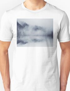 Abstract foggy woods Unisex T-Shirt