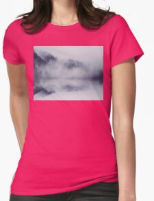 Abstract foggy woods Womens Fitted T-Shirt