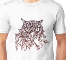 owl in graphical floral style Unisex T-Shirt