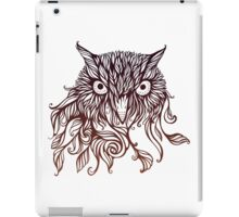 owl in graphical floral style iPad Case/Skin