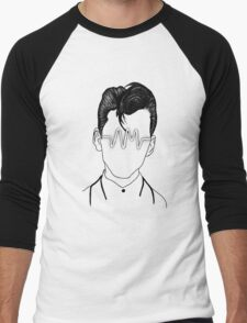 Arctic Monkeys, Alex Turner Graphc Portrait with AM logo - Dotowork  Men's Baseball ¾ T-Shirt
