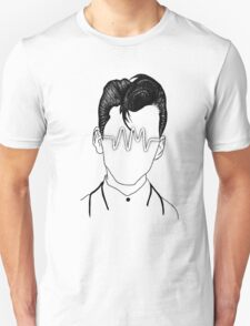 Arctic Monkeys, Alex Turner Graphc Portrait with AM logo - Dotowork  Unisex T-Shirt