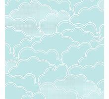 Mint Clouds Photographic Print