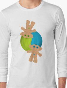 Yin-Yang Trolls Long Sleeve T-Shirt