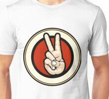 Victory gesture Emblem Unisex T-Shirt