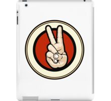 Victory gesture Emblem iPad Case/Skin