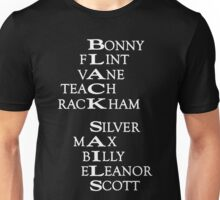 Black Sails (White Text) Unisex T-Shirt