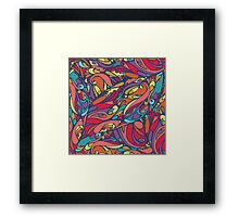 seamless colorful pattern of abstract shapes Framed Print