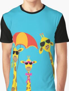 The Fun Giraffe Family Graphic T-Shirt