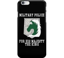 Militaty Police iPhone Case/Skin