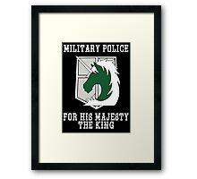Militaty Police Framed Print