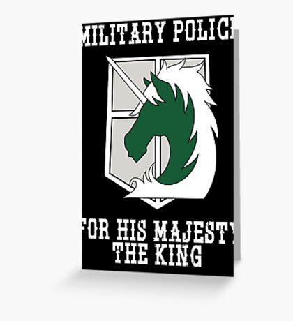 Militaty Police Greeting Card