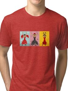 Flamenco Dancers Tri-blend T-Shirt