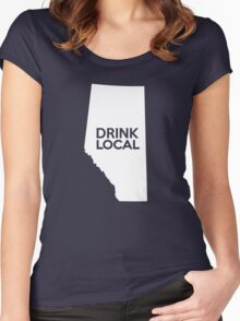 Alberta Drink Local AB Women's Fitted Scoop T-Shirt