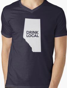 Alberta Drink Local AB Mens V-Neck T-Shirt