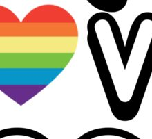 PEACE LOVE YOGA Sticker