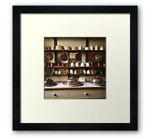 Victorian Kitchen Display Framed Print