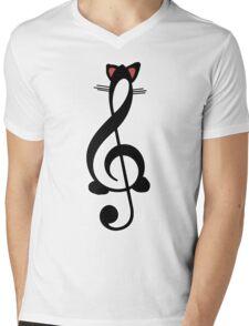 The Jazz Cat Mens V-Neck T-Shirt