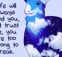 """You Are Too Strong to Break"" Night Sky Deer Sticker"