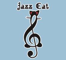 The Jazz Cat (w/text) Kids Tee