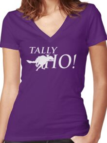 Tally Ho! Women's Fitted V-Neck T-Shirt