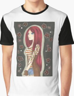 Girl with the Sakura Tattoo Graphic T-Shirt