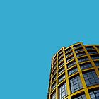 London skyline in yellow and blue by TimConstable
