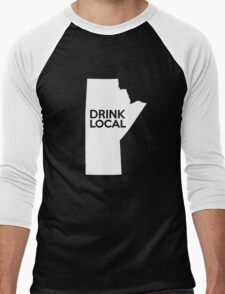 Manitoba Drink Local MB Men's Baseball ¾ T-Shirt