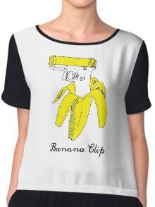 Banana Clip Chiffon Top