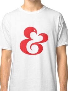 Ampersand (01 - Red on White) Classic T-Shirt