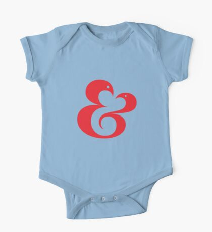 Ampersand (01 - Red on White) One Piece - Short Sleeve