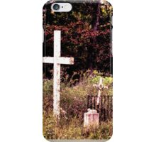 """"""" 'THE CEMETERY' """", a Series, #13, Hinds Valley Cemetery Clothed in Nature's Garment """"... prints and products iPhone Case/Skin"""