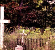 """"""" 'THE CEMETERY' """", a Series, #13, Hinds Valley Cemetery Clothed in Nature's Garment """"... prints and products Sticker"""