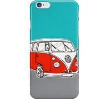 VW Camper Van ( Red )  iPhone Case/Skin