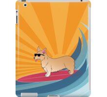 Surfing corgi iPad Case/Skin