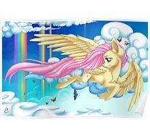 Fluttering Fluttershy Poster