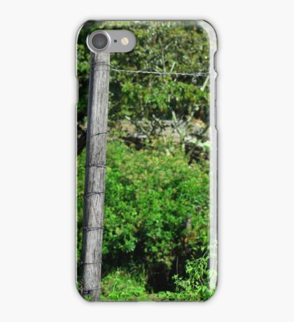 Gate in a Barbed Wire Fence iPhone Case/Skin