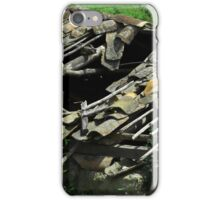 Broken Terracotta Shingle Roof iPhone Case/Skin