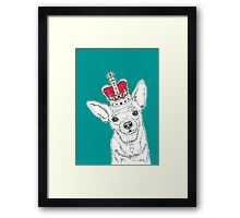 Chihuahua In A Crown Framed Print