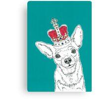 Chihuahua In A Crown Canvas Print