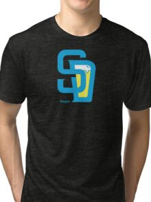 San Diego Baseball and Beer  Tri-blend T-Shirt