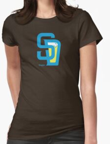 San Diego Baseball and Beer  Womens Fitted T-Shirt