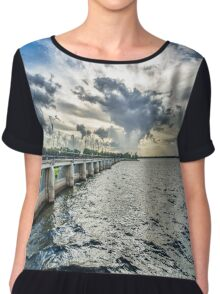 And The Sky Went Boom ! Chiffon Top