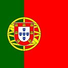 Portugal Flag Stickers by Mark Podger